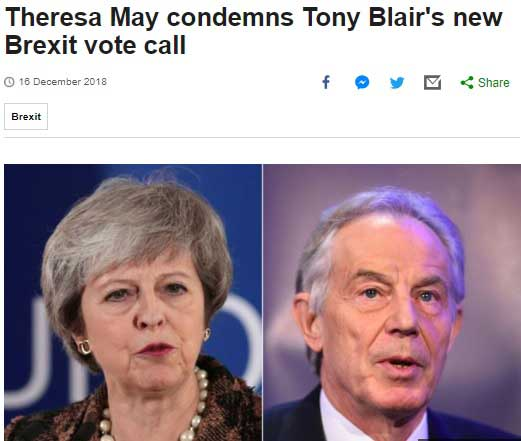 may vs blair bbc